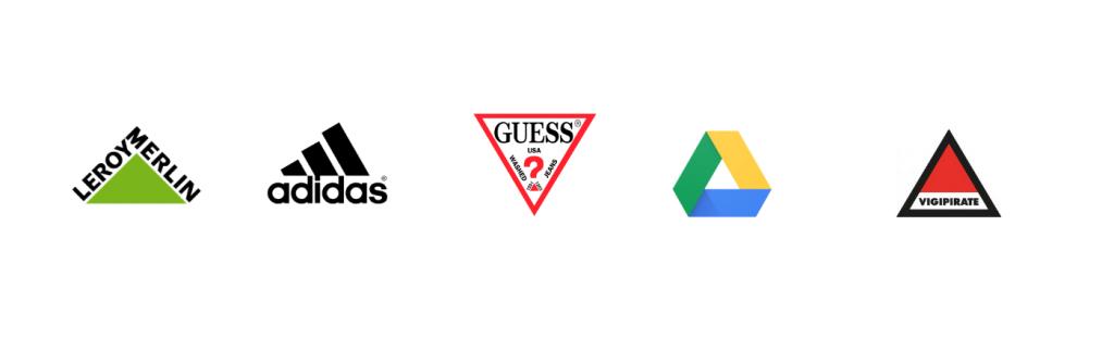 signification de la forme d'un logo triangulaire